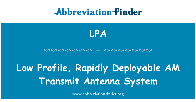 LPA: Low Profile, Rapidly Deployable AM Transmit Antenna System
