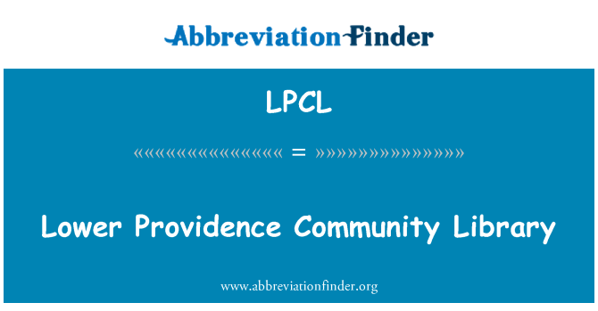 LPCL: Lower Providence Community Library