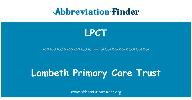 LPCT: Lambeth primarne zdravstvene sigurnosti