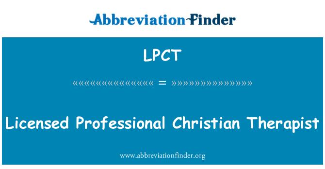 LPCT: Licenciran profesionalni Christian terapeut