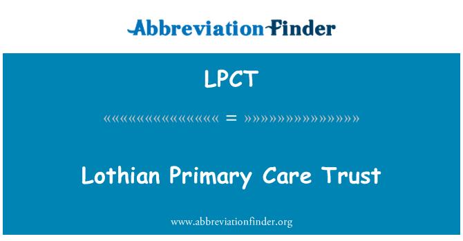 LPCT: Lothian primarne zdravstvene sigurnosti