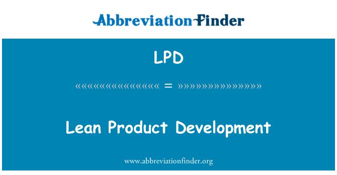 LPD: Lean Product Development