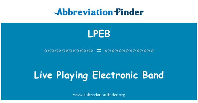 LPEB: Directo banda electrónica