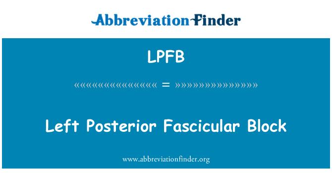 LPFB: Left Posterior Fascicular Block