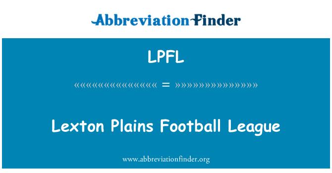 LPFL: Lexton tasandikel jalgpalliliiga