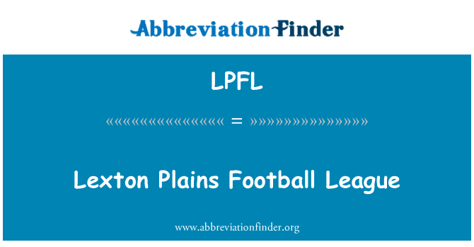 LPFL: Lexton Plains Futbol Ligi