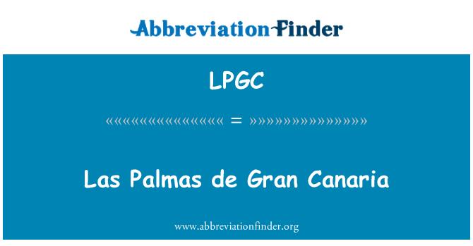 LPGC: Las Palmas de Gran Canaria