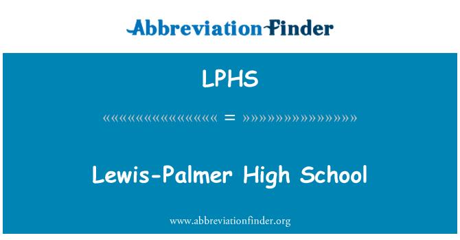 LPHS: Lewis-Palmer High School