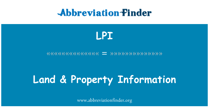 LPI: Land & Property Information