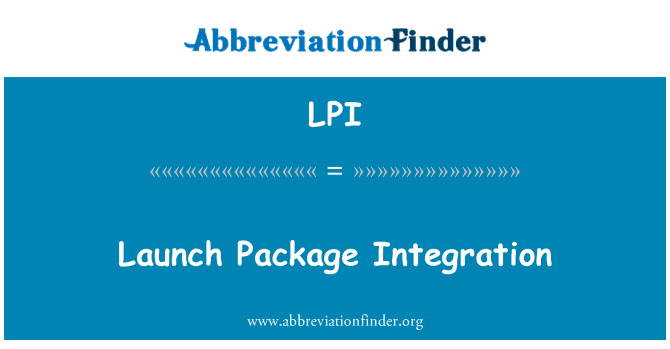 LPI: Launch Package Integration