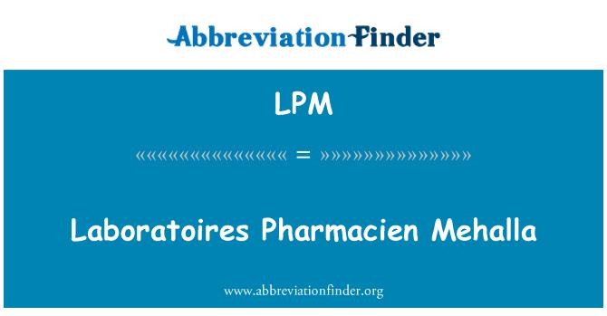 LPM: Laboratoires Pharmacien Mehalla