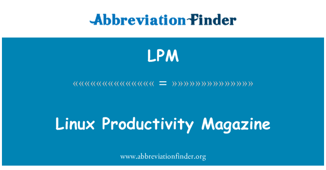 LPM: Linux Productivity Magazine