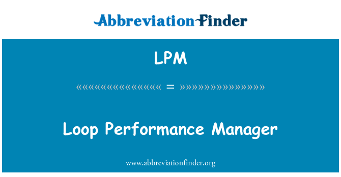 LPM: Loop Performance Manager