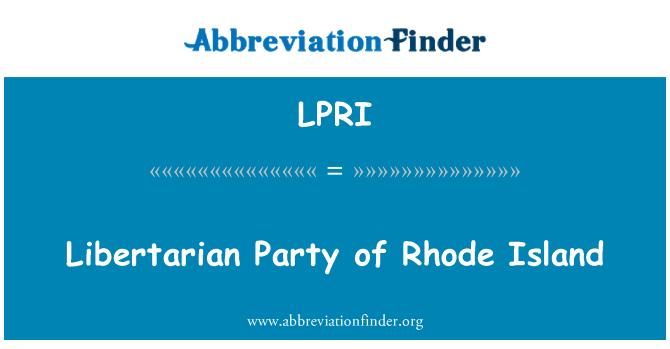 LPRI: Libertarian Party of Rhode Island