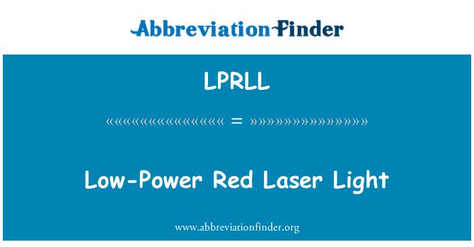 LPRLL: Luz de láser rojo de baja potencia