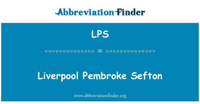 LPS: Liverpool Pembroke Sefton