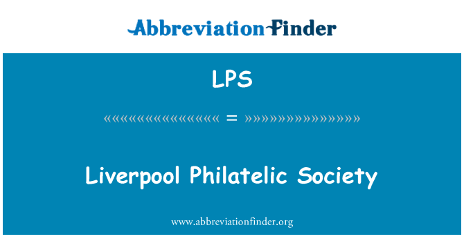 LPS: Liverpool Philatelic Society