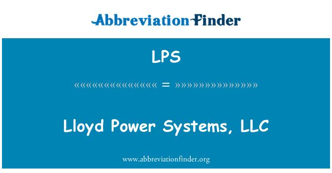 LPS: Lloyd Power Systems, LLC