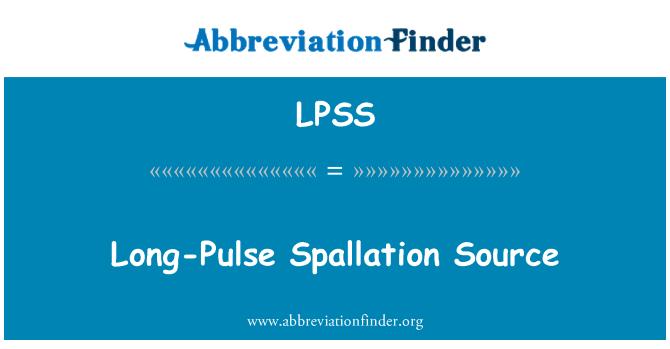 LPSS: Long-Pulse Spallation Source