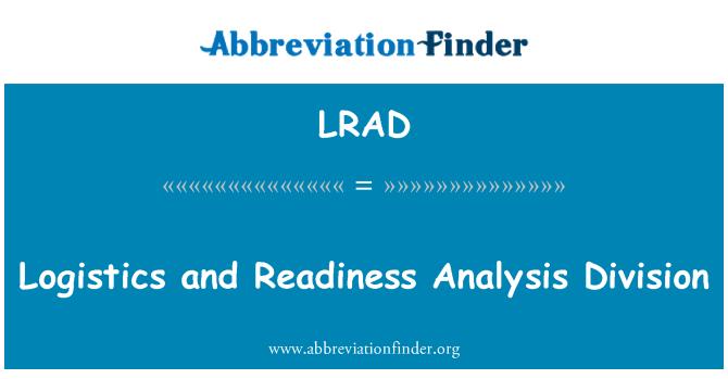 LRAD: Logistics and Readiness Analysis Division