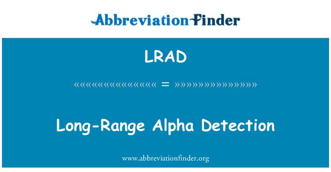 LRAD: Uzun menzilli Alfa algılama