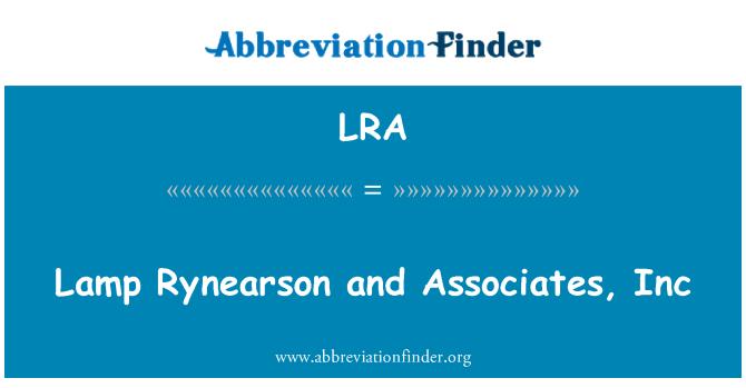 LRA: Lamp Rynearson and Associates, Inc