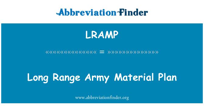 LRAMP: Long Range Army Material Plan