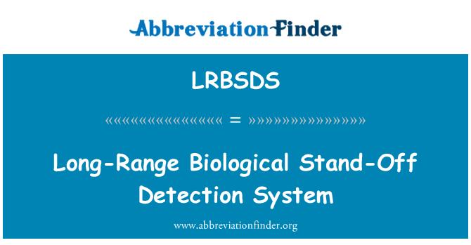 LRBSDS: Long-Range Biological Stand-Off Detection System
