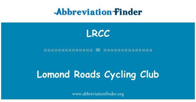 LRCC: Lomond Roads Cycling Club