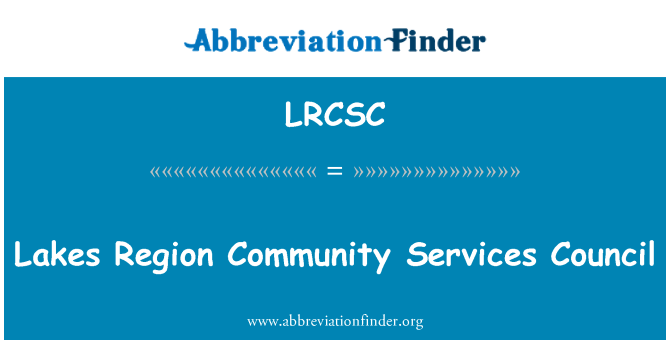 LRCSC: Lakes Region Community Services Council