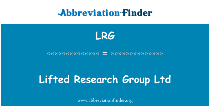 LRG: Lifted Research Group Ltd