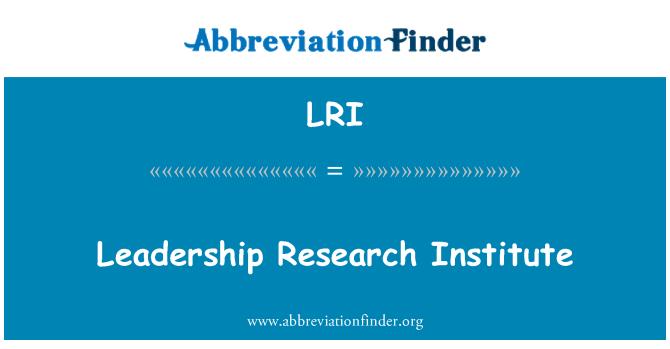 LRI: Leadership Research Institute