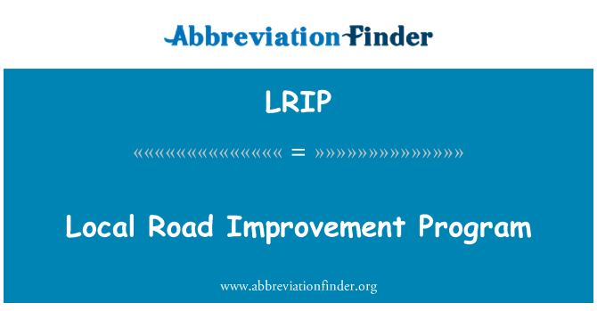 LRIP: Programa de mejoramiento de la carretera local