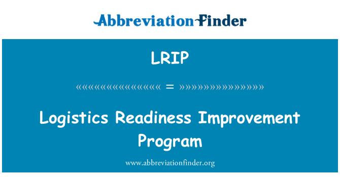 LRIP: Programa de mejoramiento de la preparación logística