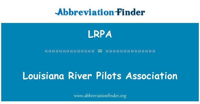 LRPA: Louisiana River Pilots Association