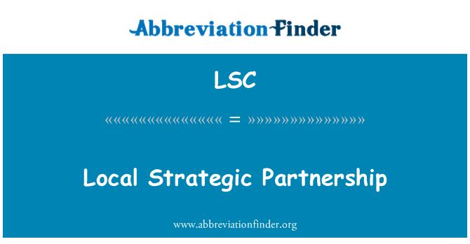 LSC: Local Strategic Partnership
