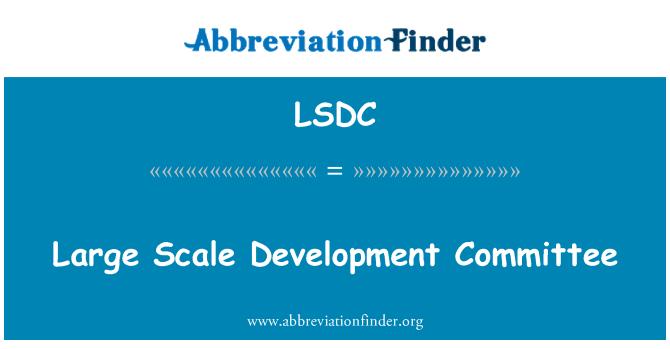 LSDC: Large Scale Development Committee