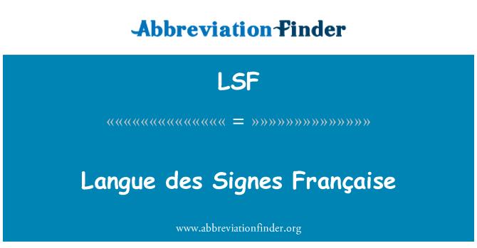 LSF: Langue des Signes Française