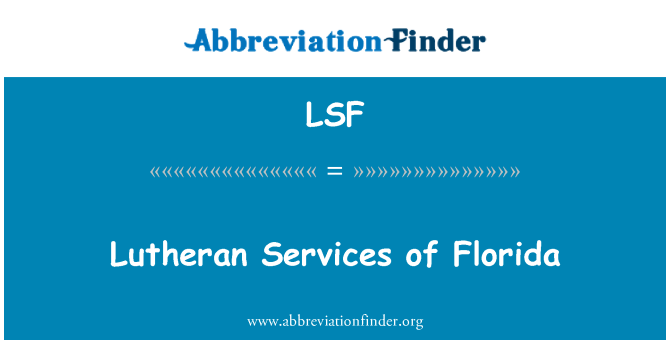 LSF: Lutheran Services of Florida