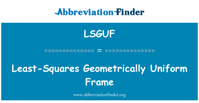 LSGUF: Least-Squares Geometrically Uniform Frame