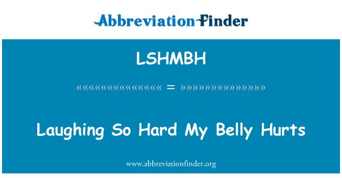 LSHMBH: Bu kadar zor gülüyor benim göbek acıyor