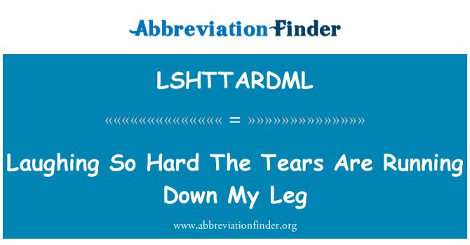 LSHTTARDML: Laughing So Hard The Tears Are Running Down My Leg