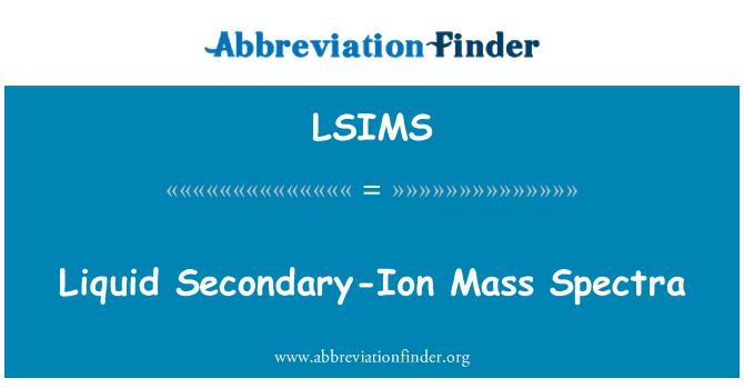 LSIMS: Liquid Secondary-Ion Mass Spectra