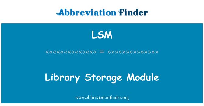 LSM: Library Storage Module