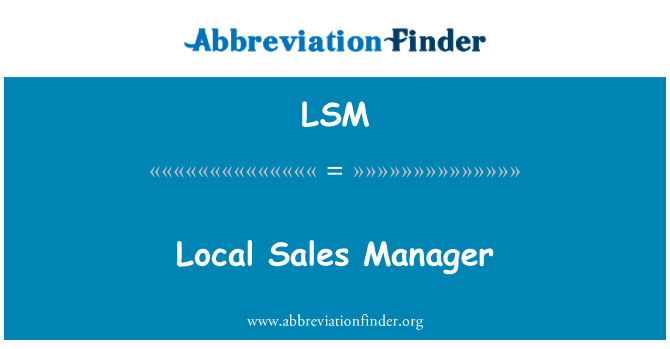 LSM: Local Sales Manager