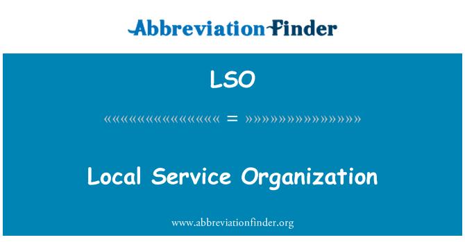 LSO: Local Service Organization