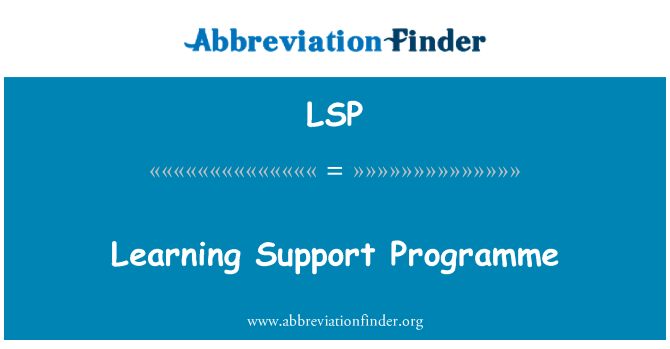 LSP: Learning Support Programme