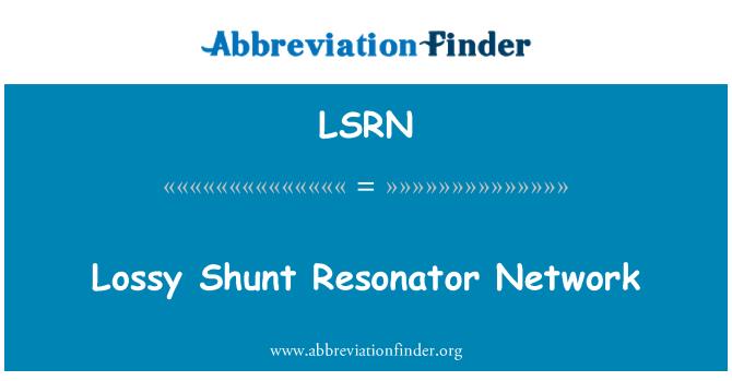 LSRN: Lossy Shunt Resonator Network