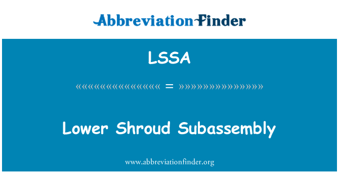 LSSA: Lower Shroud Subassembly