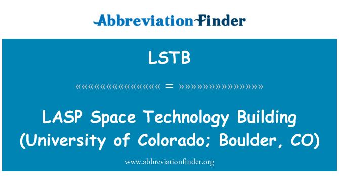 LSTB: LASP 공간 기술 건물 (콜로라도의 대학; 볼 더, CO)